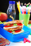 Caprese sandwich for school Stock Image