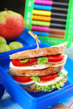Caprese sandwich for school Royalty Free Stock Photos