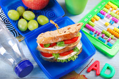 Caprese sandwich for school Royalty Free Stock Images