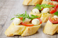 Caprese sandwiches Stock Photography