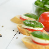 Caprese sandwiches Royalty Free Stock Photo