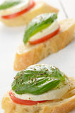 Caprese sandwiches Stock Image