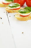 Caprese sandwiches Royalty Free Stock Images