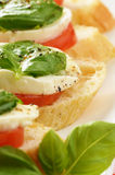 Caprese sandwiches with mozzarella Royalty Free Stock Images