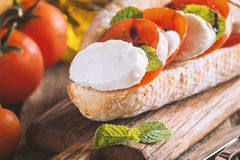 Caprese sandwiches with pesto Stock Images