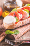 Caprese sandwiches with pesto Royalty Free Stock Images