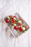 Caprese skewer stock photography