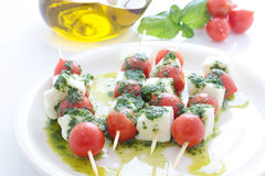 Caprese skewer Royalty Free Stock Photo