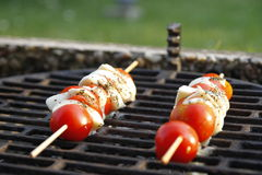 Caprese skewers on grill Stock Images