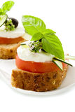 Caprese starter - Isolated Stock Photos