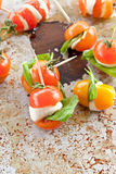 Caprese on a stick Stock Images