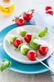 Caprese sticks. Caprese salad - tomato mozzarella sticks Stock Photography