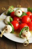 Caprese tapas Royalty Free Stock Photos