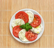 Caprese with tomato and basil Stock Image