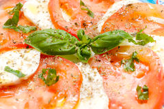 Caprese. Tomato and mozzarella Royalty Free Stock Photos