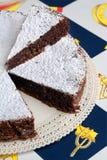 caprese torta Royaltyfri Foto