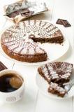 caprese torta Royaltyfria Bilder