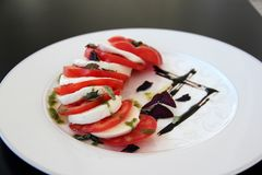 Caprese traditional salad Stock Photography