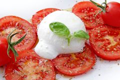 Caprese whit mozzarella end tomato Stock Photos