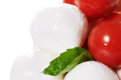 Caprese with whole tomatoes Royalty Free Stock Image