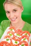 caprese zdrowa styl życia sałatki kobieta Obraz Royalty Free