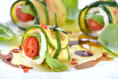 Caprese-zucchini-rolls Stock Photos