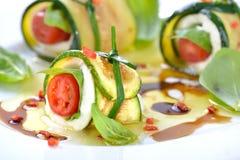 Caprese-zucchini-rolls Stock Photos