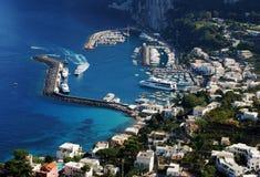 capri城镇 免版税库存图片