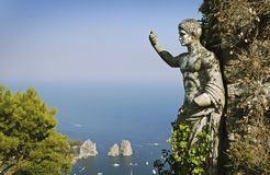 capri小岛夏天视图 库存图片