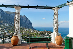 Capri海岛。 库存照片
