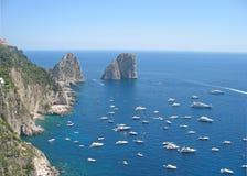capri海岛夏天 免版税库存照片