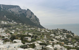 capri海岛意大利风景视图 库存照片