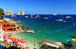 capri海岛意大利 免版税库存图片