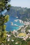 capri海岛 免版税库存图片
