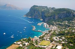 capri海岛 图库摄影