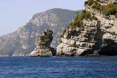 capri海岸的看法 免版税图库摄影