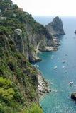 capri海湾海岛意大利salerno 免版税图库摄影