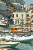 Capri港口 免版税库存图片