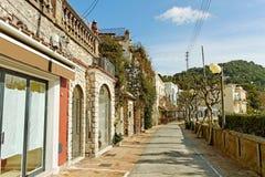 Capri街道。 库存图片