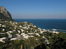 capri重创的海滨广场视图 库存图片