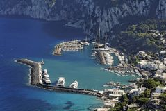 capri重创的海滨广场 库存图片
