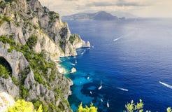 Capri - île en Italie Photo libre de droits