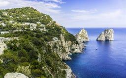 Capri ö italy royaltyfria foton