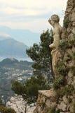 Capri, άποψη Ιταλία λόφων Στοκ Εικόνες