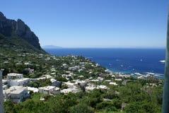 Capri 1. The island of Capri off the coast of Naples Italy in the Tyrrhenian Sea Stock Photos