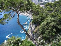 Capri. The island of Capri and the mediterranean sea Stock Photo