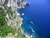 Capri. Campania Italy panorama of Capri Stock Images