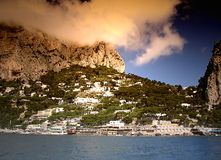 Capri. Island of Capri and mediterranen sea Stock Images