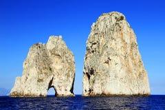 capri海岛意大利 免版税库存照片