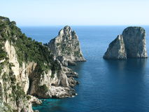 Capri. Famous Faraglioni of Capri Royalty Free Stock Photo